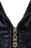 Zip On Leather Coat With Words  Made In China  Stock Image