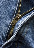 The zip in a pair of jeans Royalty Free Stock Images