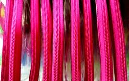 Zip rosa di plastica della borsa della chiusura lampo Fotografia Stock Libera da Diritti