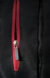 Zip rosso della chiusura a strappo Fotografia Stock