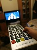 Zip zap zoom. Huge remote to change the channel Stock Image