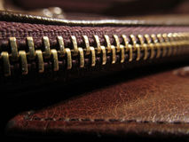 Zip. Zipper at the macro shooting Royalty Free Stock Photos