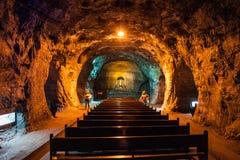 Zipaquira盐大教堂 库存照片