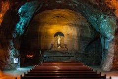 Zipaquira盐大教堂 免版税库存照片