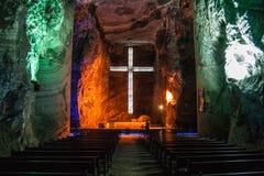 Zipaquira盐大教堂 免版税库存图片