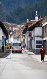 Zipaquira Colombia. ZIPAQUIRA, COLOMBIA - MAY 7, 2014: The streets of Zipaquira a town situated outside of Bogota. Notably known for its Salt Cathedral, an stock photo