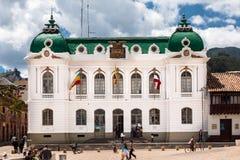 Zipaquira House Facade哥伦比亚市长 库存图片