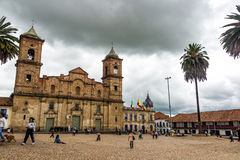 Zipaquira Main Plaza Royalty Free Stock Images