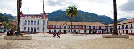 Zipaquira Plaza Royalty Free Stock Photography