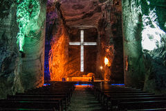 Zipaquira salt cathedral royalty free stock image