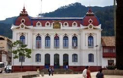 Zipaquira stadshus Arkivfoto