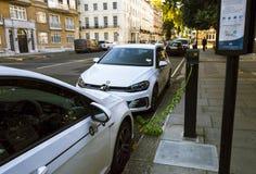 Zipcar hub near Hyde park. Zipcar is a cheap car sharing service, an alternative to car hire. London, England - October 25, 2017: Zipcar hub near Hyde park Stock Image
