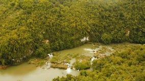 Zipline έλξης στη ζούγκλα στο νησί Bohol, Φιλιππίνες Στοκ Φωτογραφία
