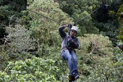 Zipline adventure Stock Image
