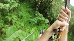 Zipline flying extreme sports,phuket,thailand stock footage