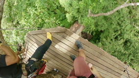 Zipline flying extreme sports,phuket,thailand stock video