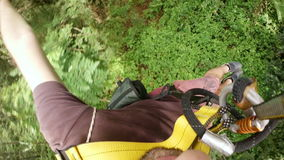 Zipline flying extreme sports,phuket,thailand stock video footage