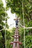 Zipliner de Kauai Photos libres de droits