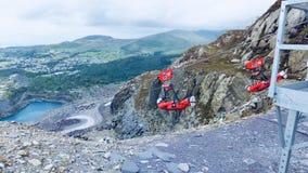 Ziplinie in Wales Lizenzfreie Stockfotografie