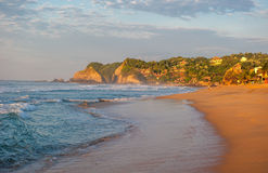 Zipolite beach at sunrise, Mexico Stock Photography