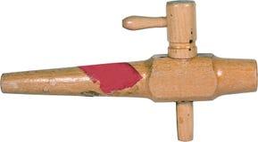 Zipolo di legno dell'annata isolato Immagini Stock