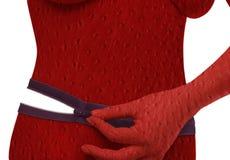 Zipp rosso Fotografie Stock