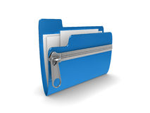 Zipped folder Stock Photo