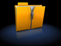 Zipped folder Royalty Free Stock Photos