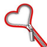 Zipped heart Stock Image