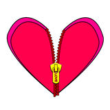 Zipped heart Royalty Free Stock Photo