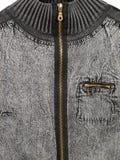 Zipped jean jacket Stock Photos