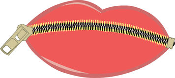 Zipped lips Royalty Free Stock Photo