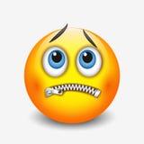 Zipped mouth smiley, emoticon, emoji - vector illustration Stock Photos