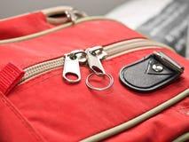 Zipped red bag Stock Photos
