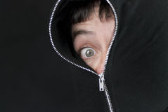 Zipped To The Eye Stock Images