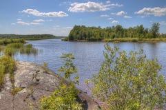 Zippel fjärddelstatspark på sjön av träna, Minnesota royaltyfria foton