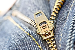 Zipper 1 de Jean Fotografia de Stock Royalty Free