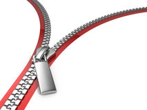 Zipper. Blank Zipper - 3d rendered illustration Royalty Free Stock Photo