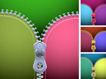 Zipper. Vector zipper of different colors Royalty Free Stock Images