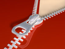 Zipper. Original illustration of a partially open zip Royalty Free Stock Photo