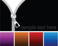 Zipper. A zipper on a black coat Royalty Free Stock Image