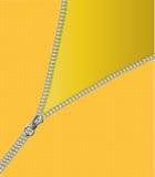 Zipper. Open yellow zipper illustration background Royalty Free Stock Photography