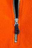 Zipper. Opened zipper on fuzzy fabric Stock Images