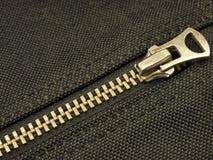 Zipper. Isolated on black background Stock Image