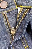 Zipper 2 de Jean Fotografia de Stock