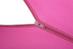 Zipper. An opening zipper revealing a white surface Royalty Free Stock Image