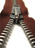 Zipper. Brown zipper Royalty Free Stock Photography