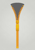 Zipper. With gray textures background stock illustration