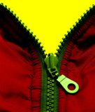 Zipper. Three colors - yellow, red, green Stock Image