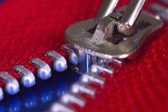 Zipper. Red zipper stock photography